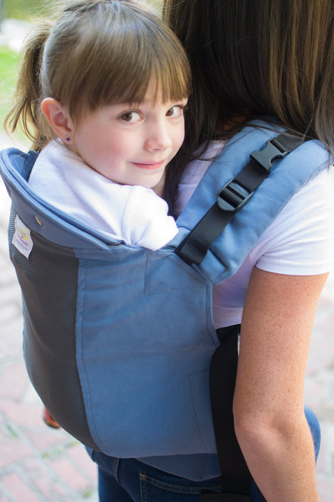 Slate w/ Koolnit Mesh -Toddler Soft Structured Child Carrier