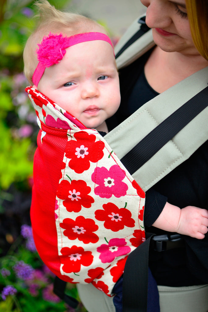 Red Poppies with Koolnit- Standard soft structured carrier