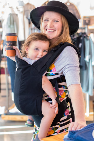 Black w/ Koolnit Mesh- Preschool Soft Structured Child Carrier