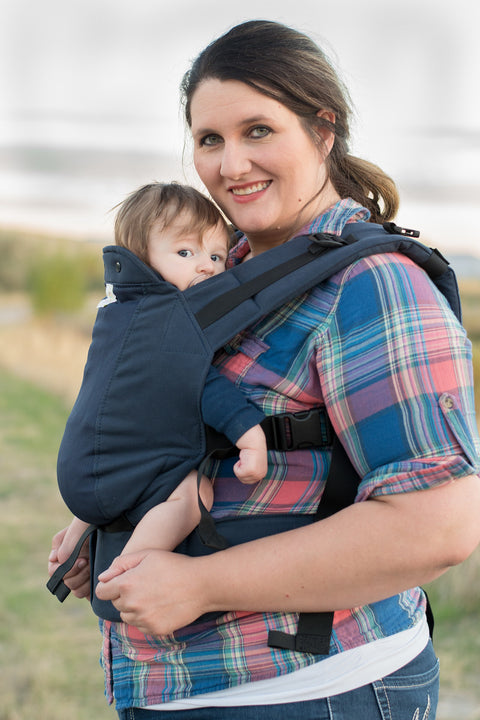 Navy w/ Koolnit- Standard Soft Structured Baby Carrier