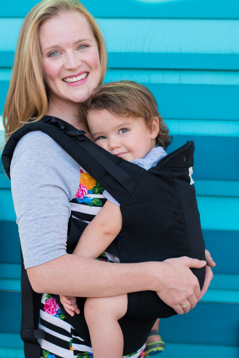 Black w/ Koolnit Mesh- Infant Soft Structured Baby Carrier