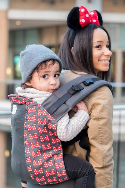 Mini Bows 2 w/ Graphite Koolnit Mesh - Standard Soft Structured Baby Carrier
