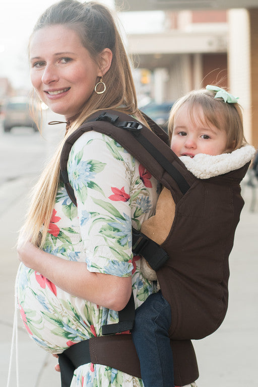 Espresso Brown w/ Koolnit Mesh Infant Baby Carrier