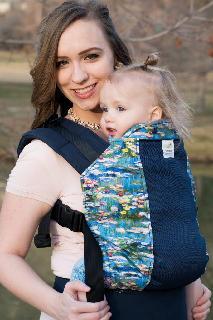 Water Lilies w/ Koolnit Mesh - Standard Soft Structured Baby Carrier