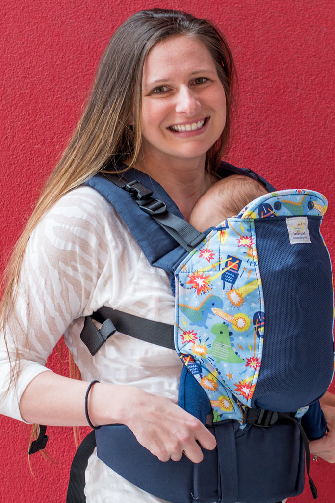 Monsters vs Robots w/ Koolnit Mesh - Standard Soft Structured Baby Carrier