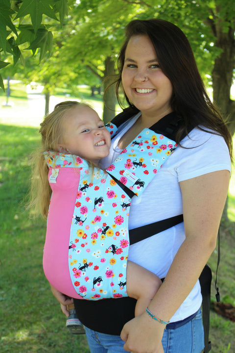 Bad Kitty w/ Koolnit Mesh- Infant Soft Structured Baby Carrier