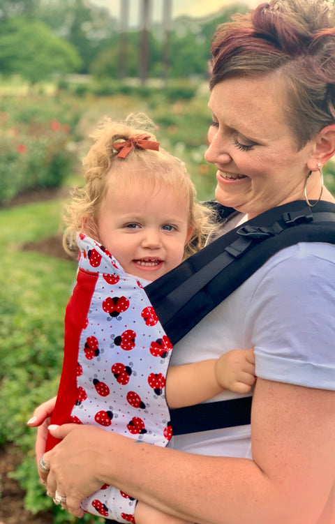 Ladybug Love w/ Koolnit Mesh - Toddler Soft Structured Child Carrier