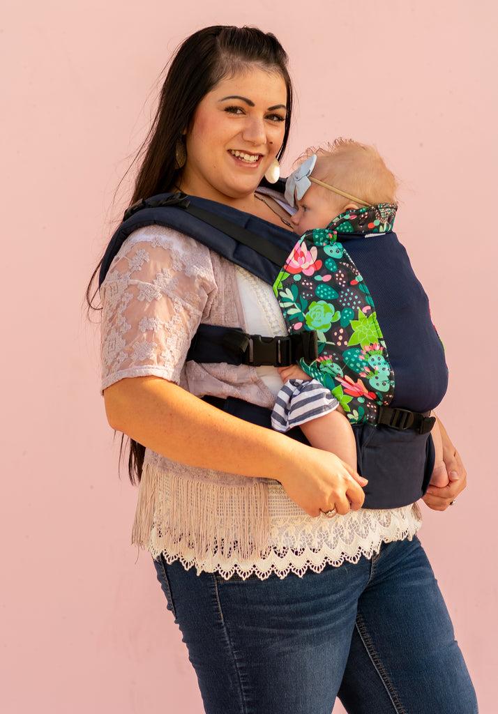 Succulent w/ Koolnit Mesh - Infant Soft Structured Baby Carrier