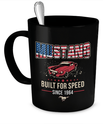 Coffee Mug - Mustang Built For Speed Mug
