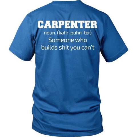 T-shirt - Carpenter Definition Shirt