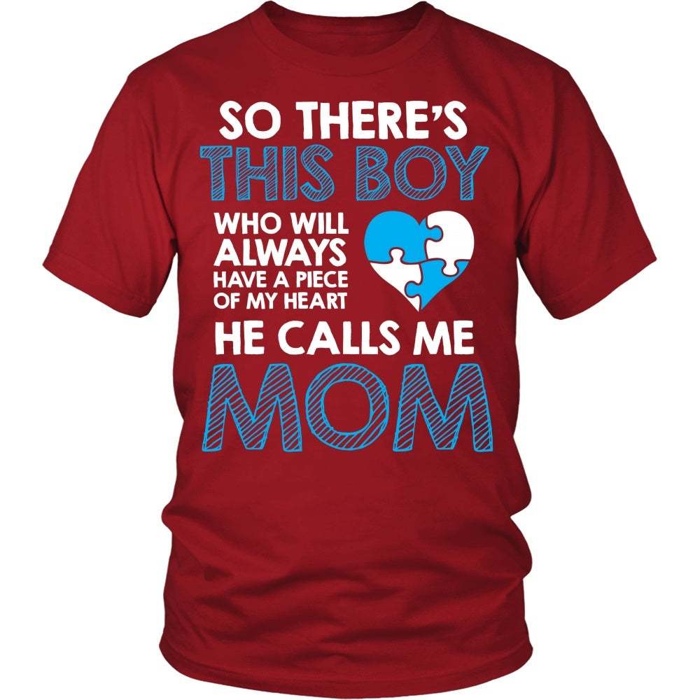 T-shirt - He Calls Me Mom Autism Awareness
