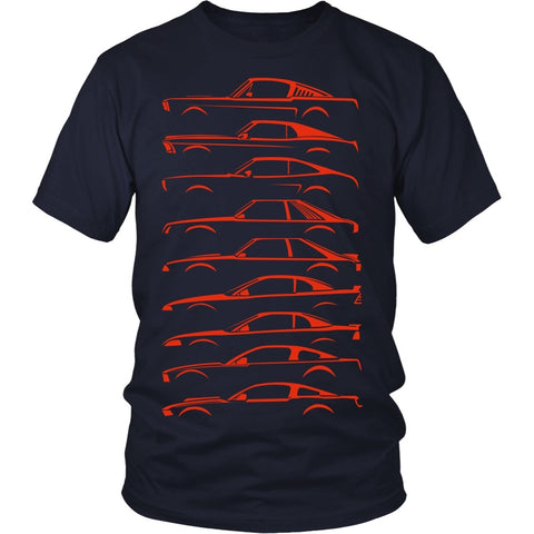 T-shirt - History Of Mustang Models Shirt