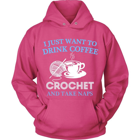 T-shirt - I Just Want To Drink Coffee - Crochet