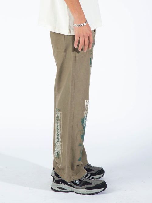 Morphology Set Trousers - Moss