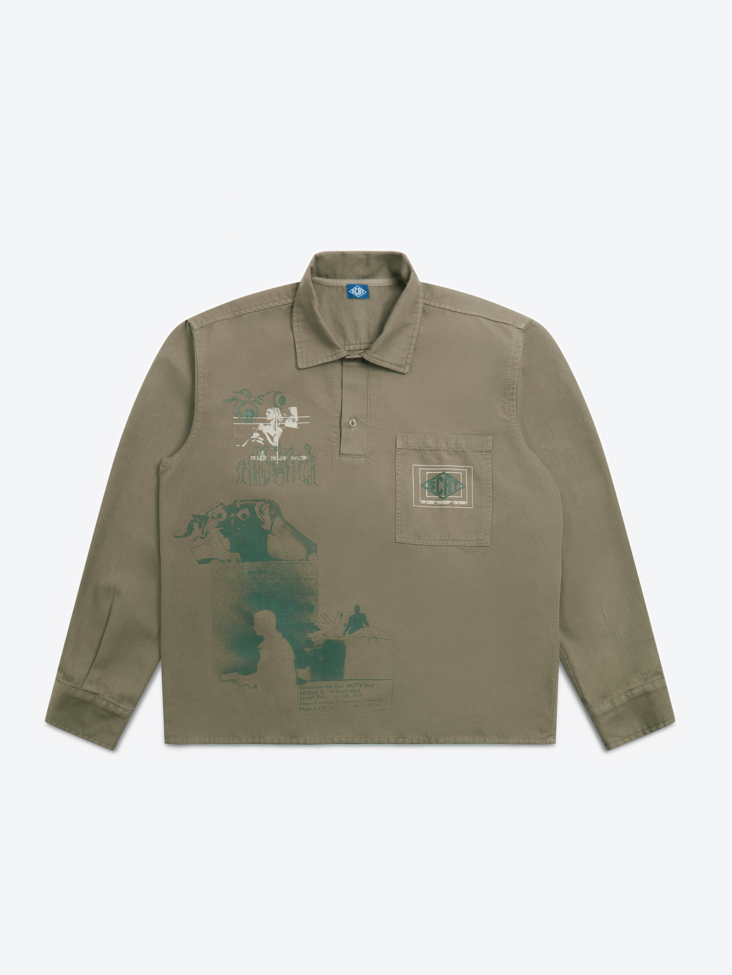 Morphology Set Overshirt - Moss