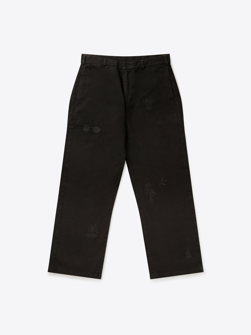 Paix Trousers - Washed Black