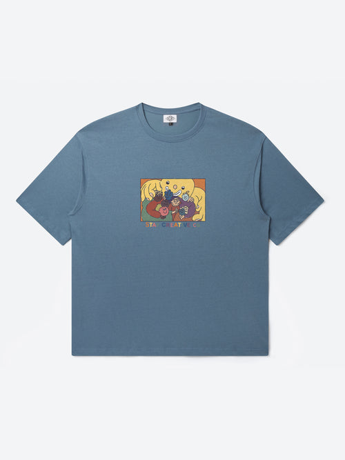 T-Shirt Creative Co - Bleu Chine