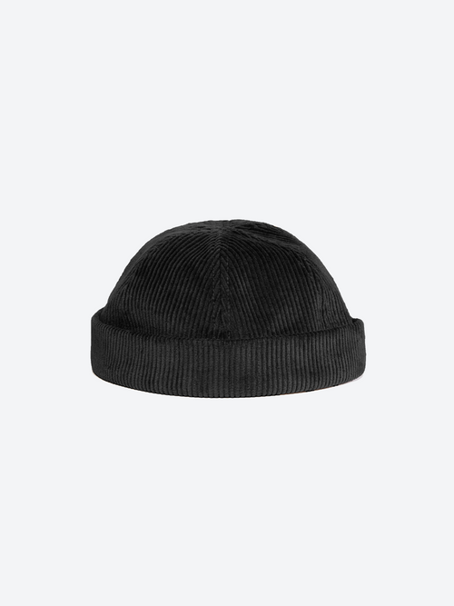 Cord Docker Cap - Black