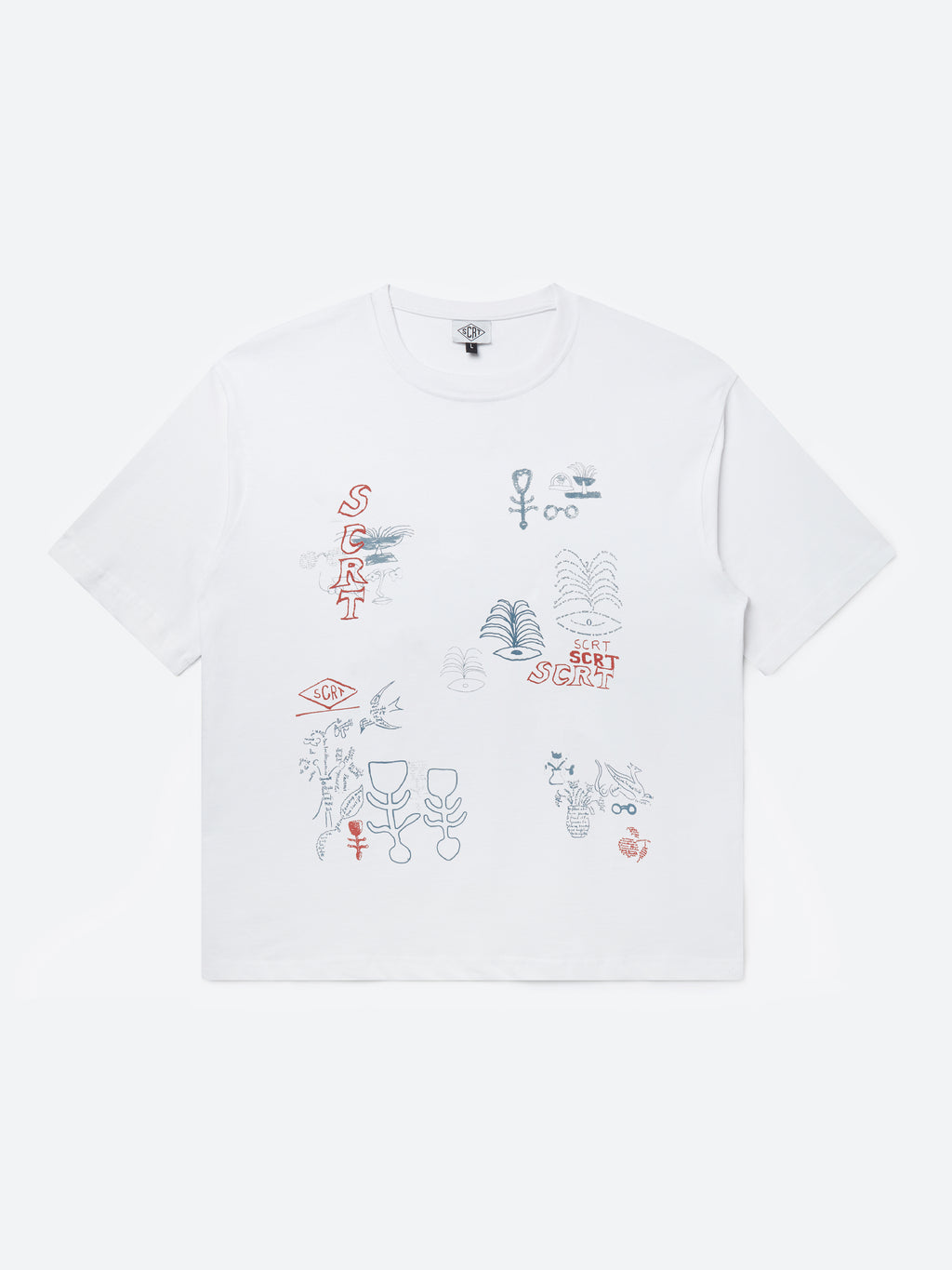 T-Shirt abstrait - Blanc