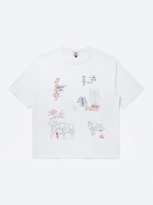 Abstract T-Shirt - White