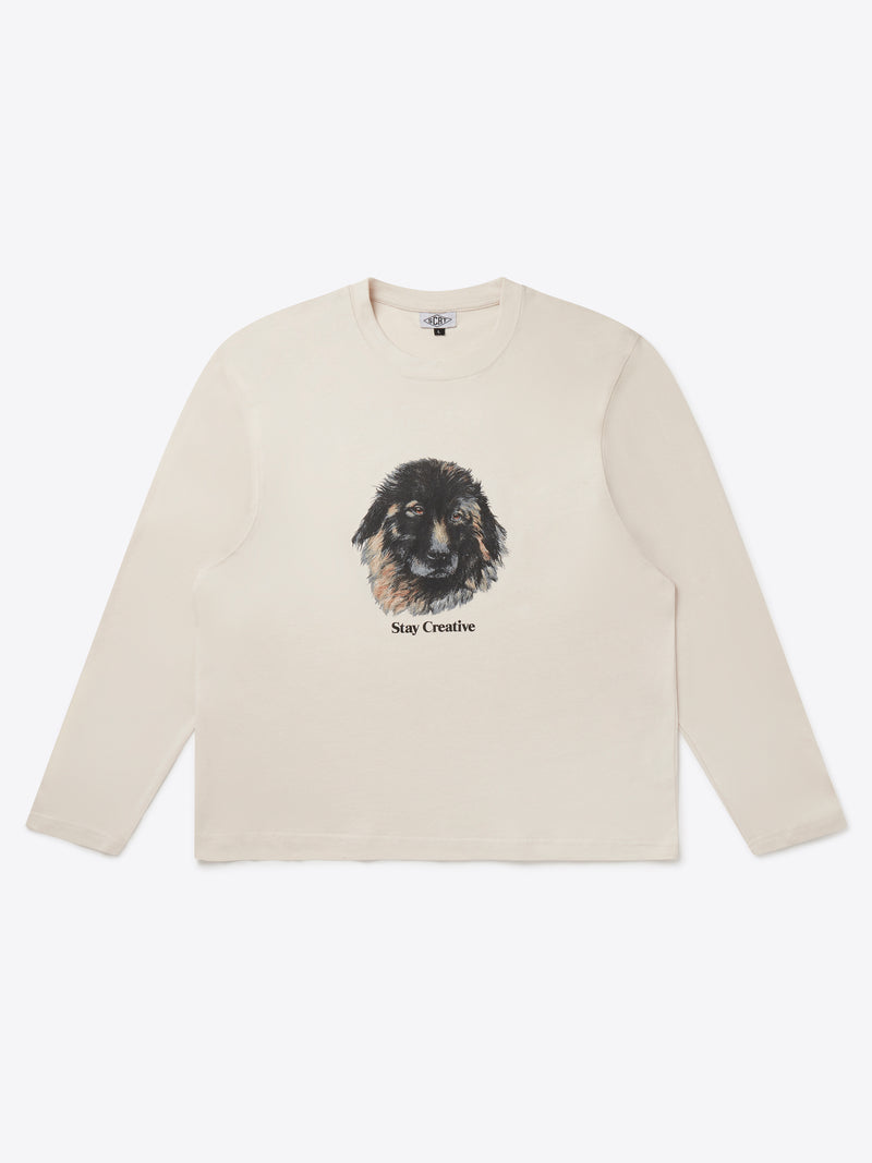 Bo The Dog Long Sleeve - Crystal Grey