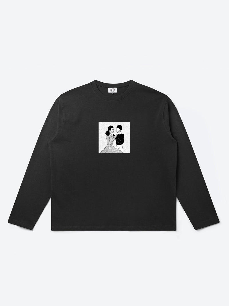 Happy Days Long Sleeve T-Shirt - Black
