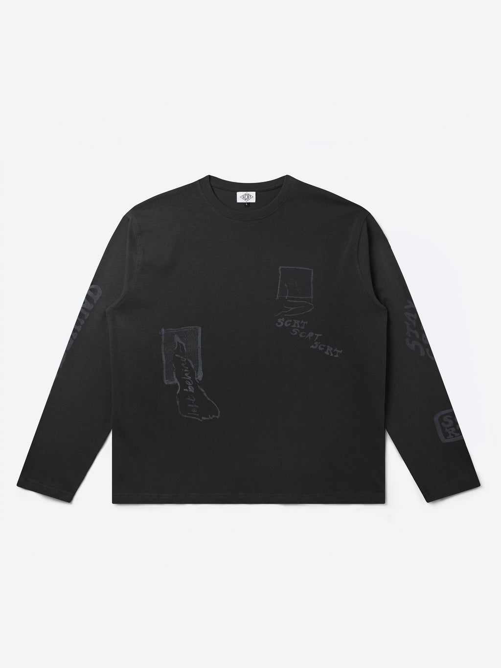 Inky Long Sleeve T-Shirt - Black