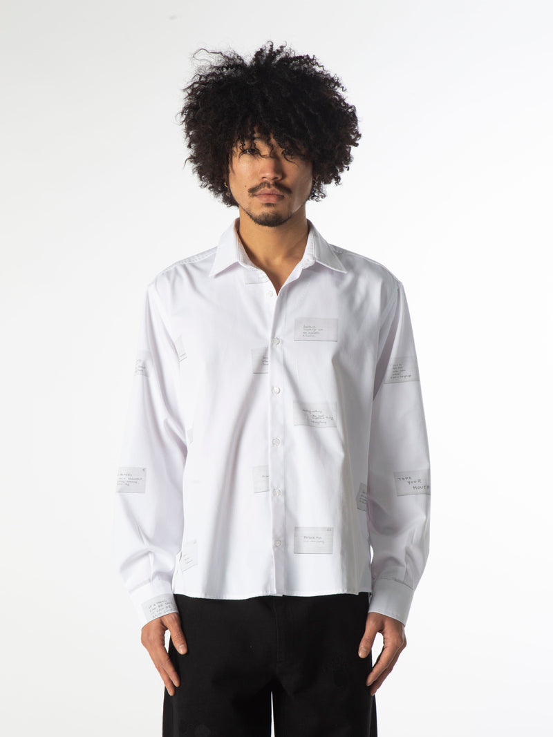 Oblique Shirt - White