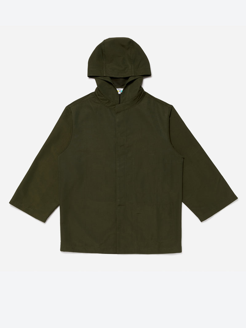 Hooded Rain Mac - Olive