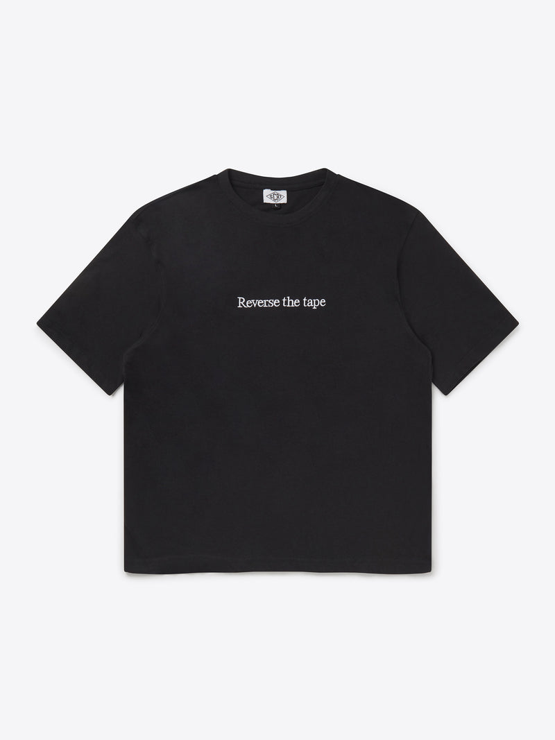 Reverse The Tape T-Shirt - Black