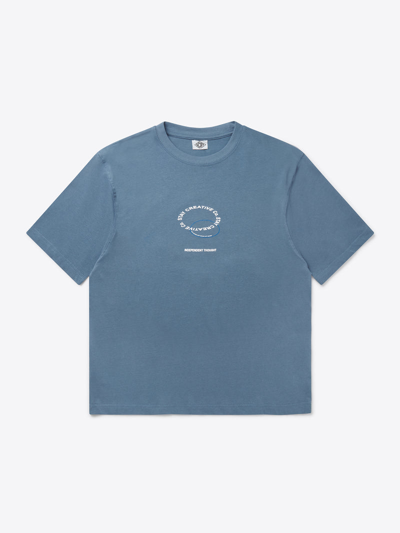 Stay Creative T-Shirt - China Blue
