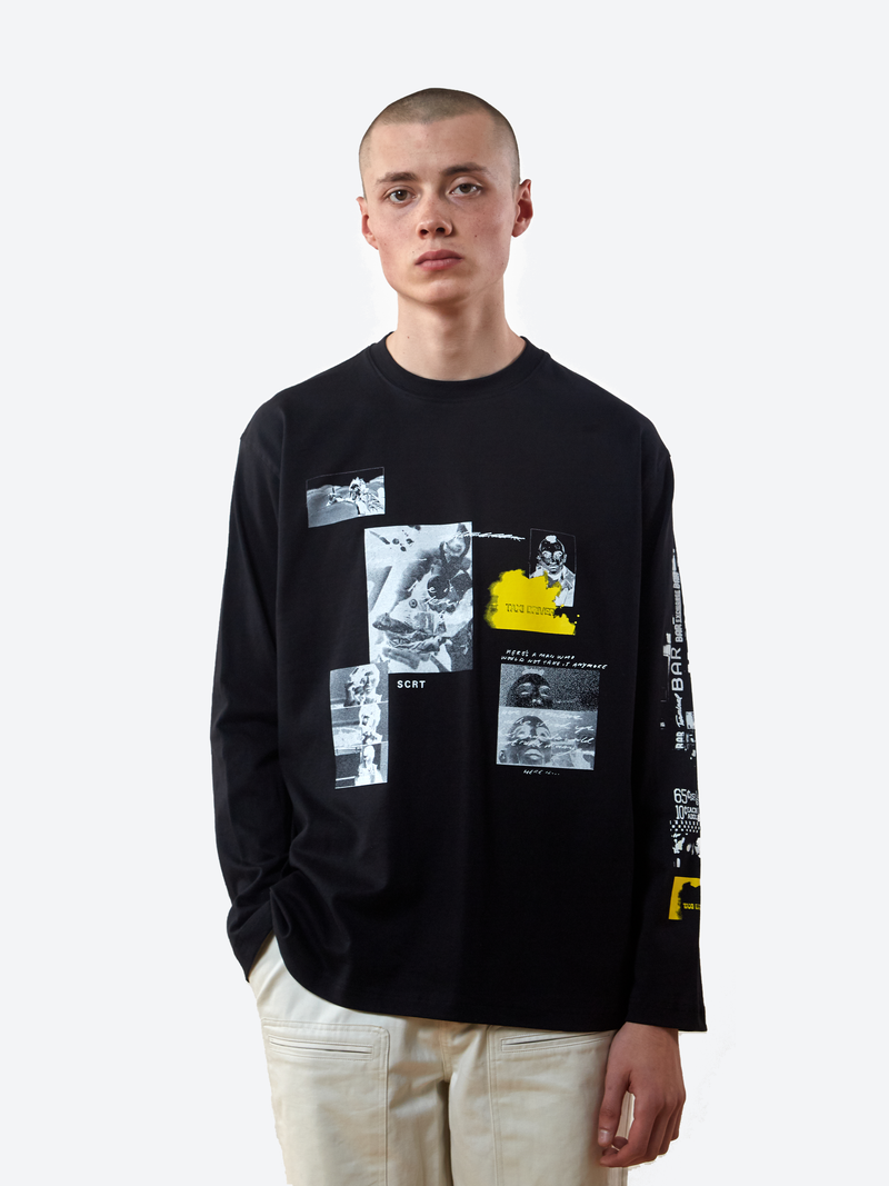 Taxi Collage Long Sleeve T-Shirt - Black