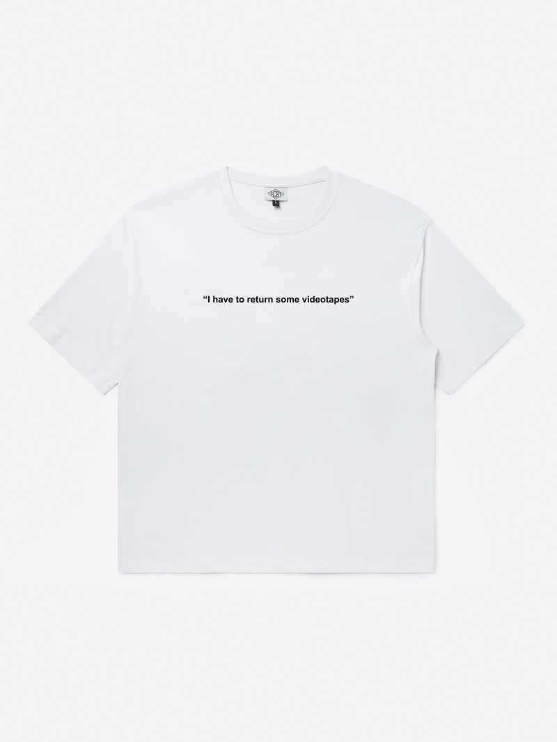 Videotapes T-Shirt - White