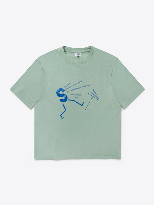 What Difference T-Shirt - Iceberg Green