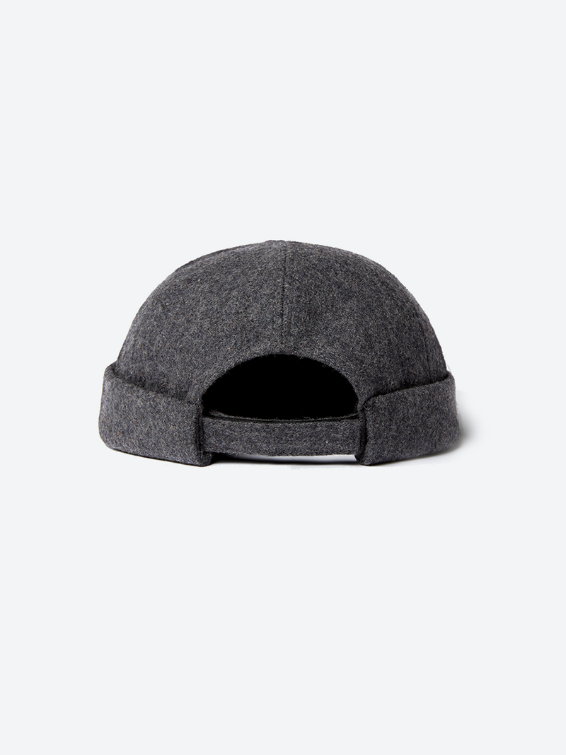 Wool Docker Cap - Charcoal