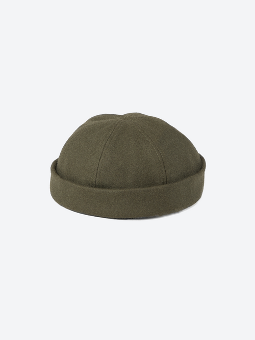 Wool Docker Cap - Olive