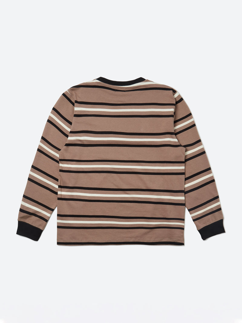 Stripe Long Sleeve T-Shirt - Fossil