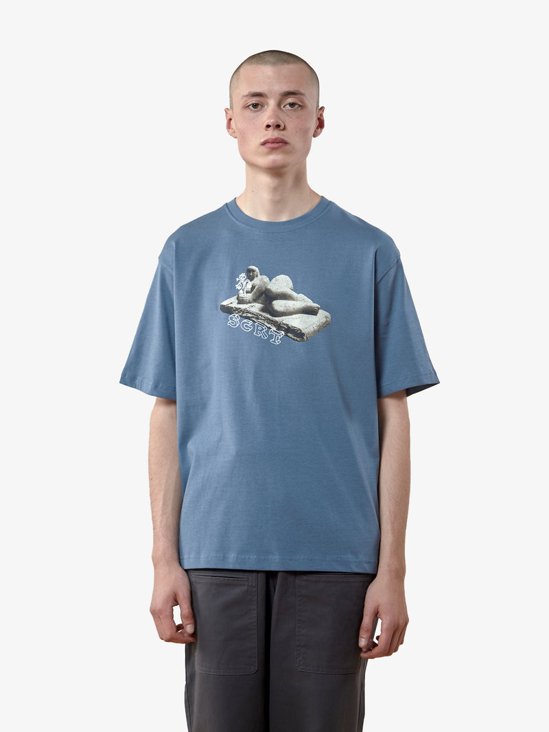 SCRT Sculpture Tee China Blue