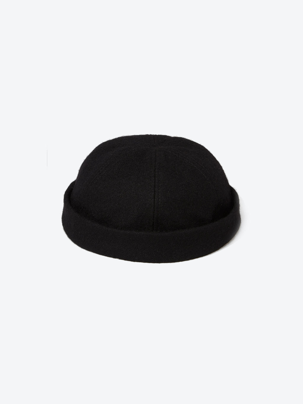 Wool Docker Cap - Black