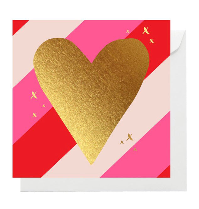 Card (Mini) Heart Strip ELM PAPER