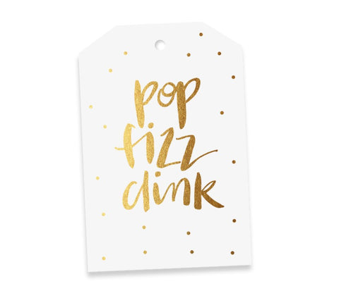 Card Tag POP FIZZ CLINK