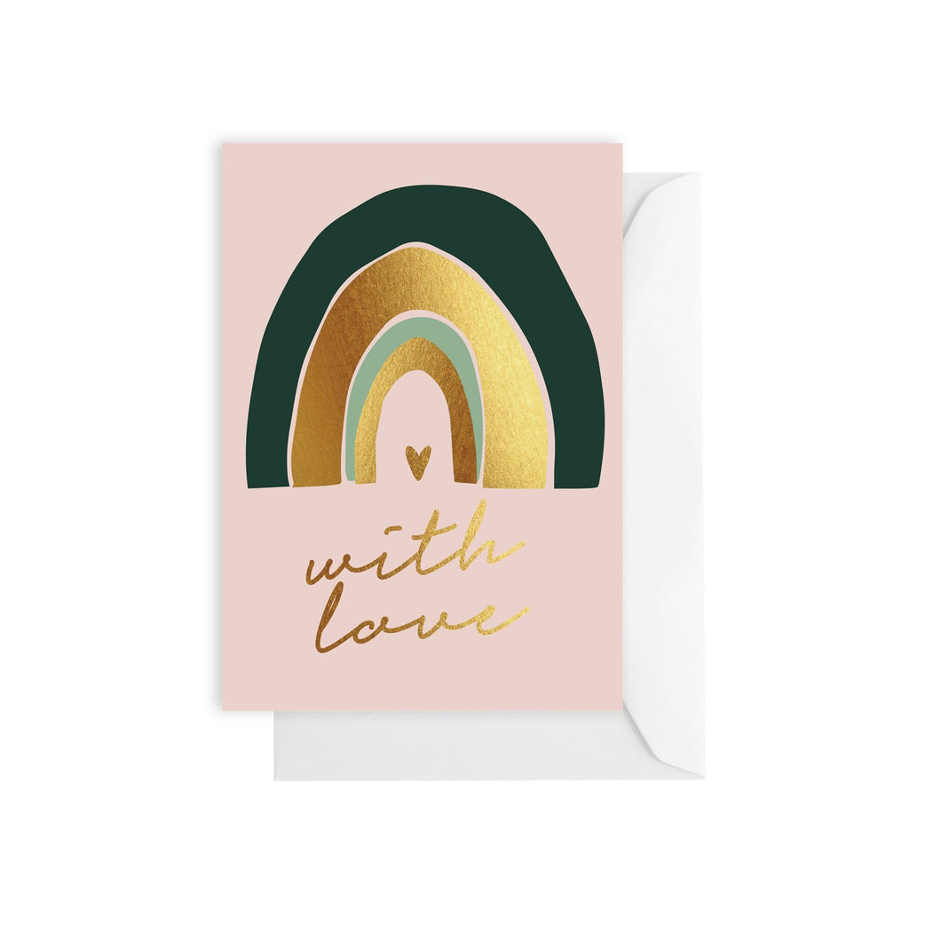 Card Rainbow Love - Elm Paper