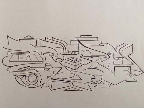 bsp clothing graffiti sketch competition
