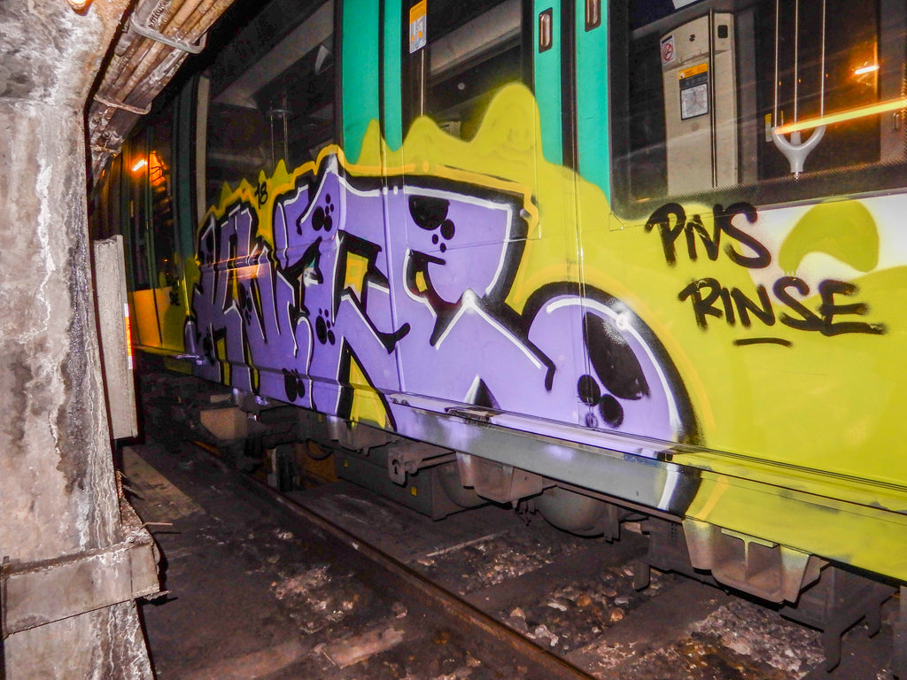 Paris train graffiti bsp clothing