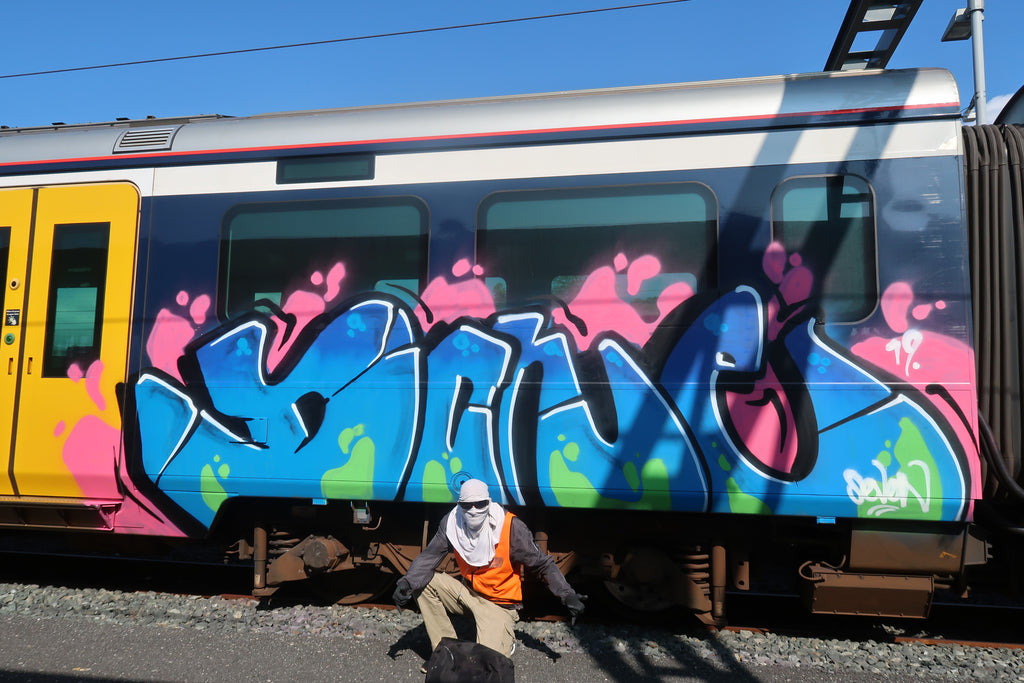 auckland train graffiti bsp clothing