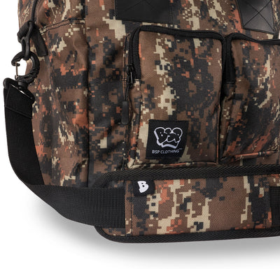 Camo 12 pack paint bag with shoulder pad