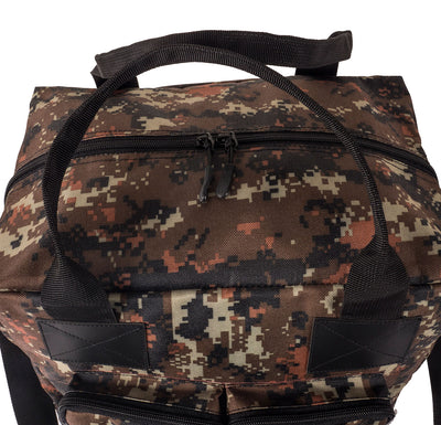 Camo 12 pack paint bag ykk zips