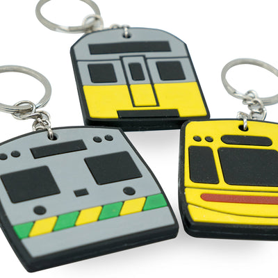 Rubber train keyrings sydney melbourne brisbane