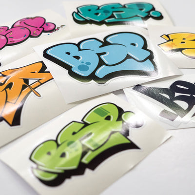 BSP Mixed Graffiti Stickers side angle