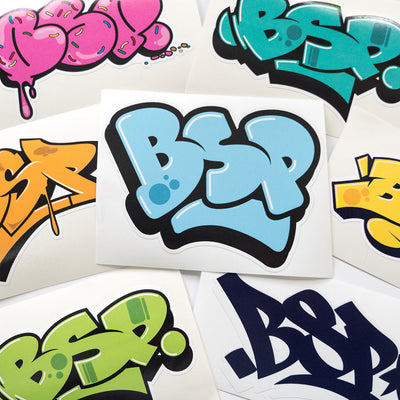 BSP Mixed Graffiti Stickers close up